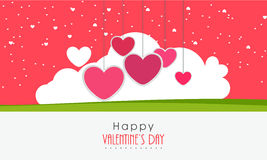 Happy Valentines Day greeting card design. Stock Photos