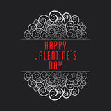 Happy valentine's day greeting card design Royalty Free Stock Photo