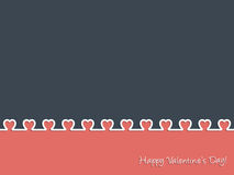 Happy Valentine's Day Greeting card design Stock Images