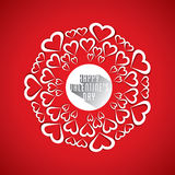 Happy valentine's day greeting card design Royalty Free Stock Photography