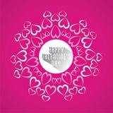 Happy valentine's day greeting card design Stock Image