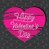 Happy valentine's day greeting card design Stock Photography