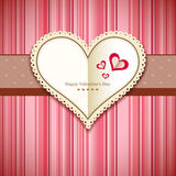 Happy Valentine's day greeting card design pink background Royalty Free Stock Photo