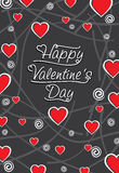 Happy valentine's day greeting card design Royalty Free Stock Photos