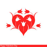 Happy Valentine's Day. Greeting card with flowers Royalty Free Stock Photos