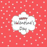 Happy Valentine`s Day greeting card Royalty Free Stock Photography