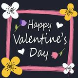 Happy Valentine`s Day greeting card Royalty Free Stock Photo