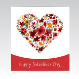 Happy Valentine's Day Greeting Card Stock Image
