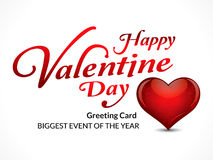 Happy Valentine`s Day Greeting Card With Heart Royalty Free Stock Photos