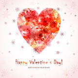 Happy Valentine's Day Greeting Card with heart Royalty Free Stock Photos