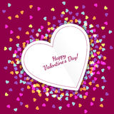 Happy Valentine`s Day greeting card with hearts background. Vect Royalty Free Stock Image