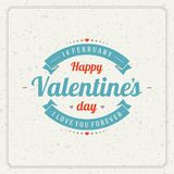 Happy Valentine's day Greeting Card or Inviration Stock Images