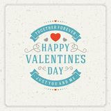 Happy Valentine's day Greeting Card or Inviration Stock Image