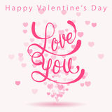 Happy valentine's day greeting card Royalty Free Stock Images