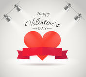 Happy Valentine`s day greeting card Stock Photo