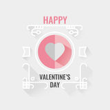 Happy Valentine's Day Greeting Card or Poster Vector illustratio Royalty Free Stock Photo