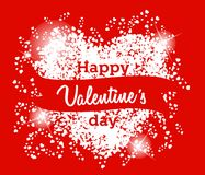 Happy Valentine's Day Greeting Card on red background Royalty Free Stock Photo