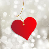 Happy Valentine's Day.  Greeting Card on red background Stock Photo