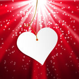 Happy Valentine's Day.  Greeting Card on red background Royalty Free Stock Photos