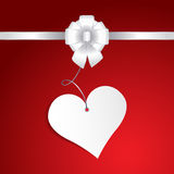 Happy Valentine's Day.  Greeting Card on red background Royalty Free Stock Images