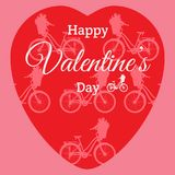 Happy Valentine`s Day greeting card Stock Photography