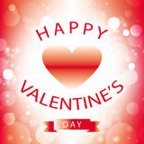 Happy valentine's day greeting card with red heart Royalty Free Stock Images
