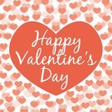 Happy Valentine`s day. Greeting card. Red tones. Happy Valentine`s day. Vector greeting card. Red tones Stock Image