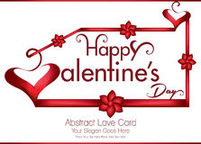 Happy valentine's day greeting card with ribbon Stock Photography