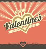 Happy Valentine's day Greeting Card Template Stock Image