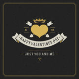 Happy Valentine's day Greeting Card vector Royalty Free Stock Photo