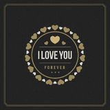 Happy Valentine's day Greeting Card vector Royalty Free Stock Photography