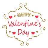 Happy Valentine`s Day greeting card Royalty Free Stock Photos