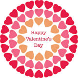 Happy Valentine's Day greeting card Royalty Free Stock Photography