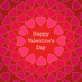 Happy Valentine's Day greeting card Royalty Free Stock Photo