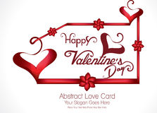 Happy valentine's day greeting card vector illustration Stock Image