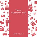 Happy Valentine's Day greeting card Stock Photo