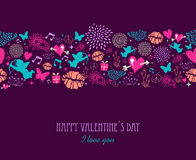 Happy Valentine`s day greeting card Royalty Free Stock Images
