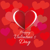 Happy Valentine's Day Greeting Card Royalty Free Stock Photos