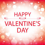 happy valentine's day greeting card with white hearts Royalty Free Stock Photo