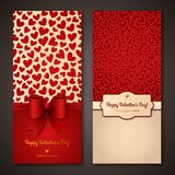 Happy Valentine's Day greeting cards. Royalty Free Stock Photos