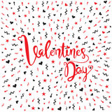Happy valentine`s day greeting Royalty Free Stock Images