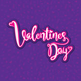Happy valentine`s day greeting Stock Images
