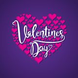 Happy valentine`s day greeting design. Happy valentine`s day greeting card, heart shape pattern design big heart Stock Photo