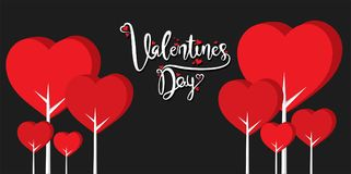 Happy valentine`s day greeting design. Happy valentine`s day greeting card, love tree background design Royalty Free Stock Photo