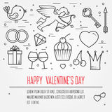 Happy Valentine's Day greetings card, labels, badges, symbols, i Stock Photography