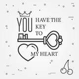 Happy Valentine's Day greetings card, labels, badges, symbols, i Stock Photos
