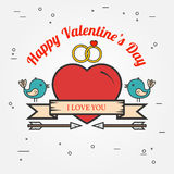 Happy Valentine's Day greetings card Stock Photography