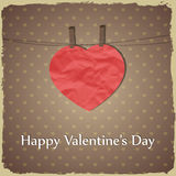Happy Valentines Day greetings card Stock Photos