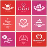 Happy Valentine's Day greetings cards Stock Photos