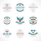 Happy Valentine's Day greetings cards Royalty Free Stock Image